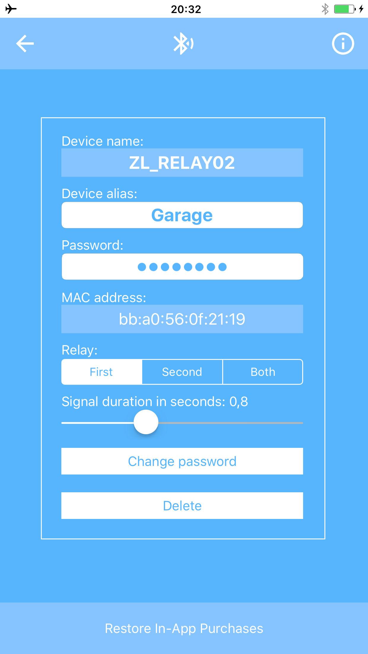 garage door appScreenshots showing how the garage door app works to open the