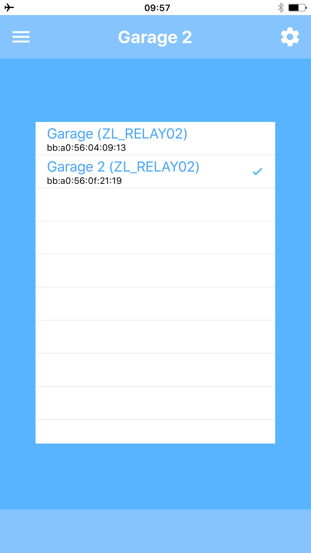 Imagens mostrando como o aplicativo da porta da garagem ...
